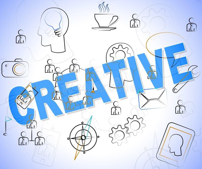 Idérikt ordhjälpmedel som planlägger designer och idéer royaltyfri illustrationer