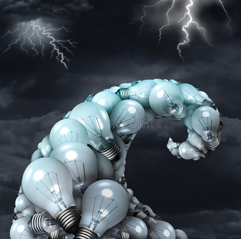 Idérikt stormbegrepp stock illustrationer