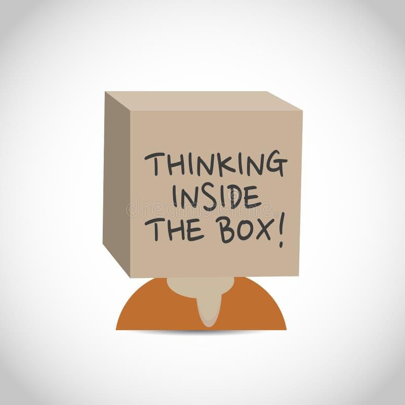 Idérikt tänka inom asken stock illustrationer