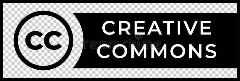 Idérikt tecken för allmänningrättledning med den runda CC-symbolen stock illustrationer