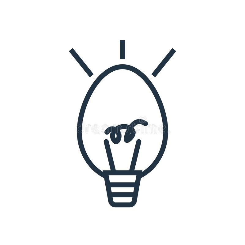 Idésymbolsvektor som isoleras på vit bakgrund, idétecken stock illustrationer