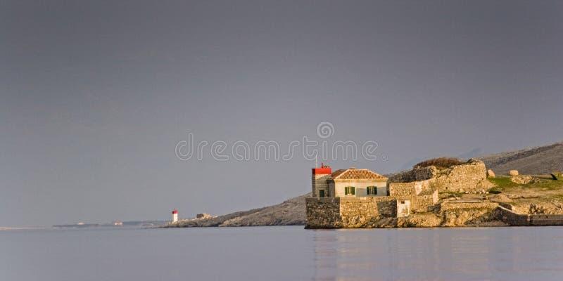 Idílio no canal de Velebit fotografia de stock royalty free