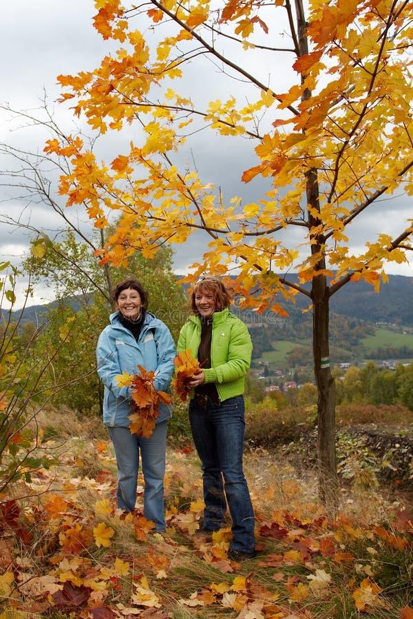 idź jesienny fotografia stock