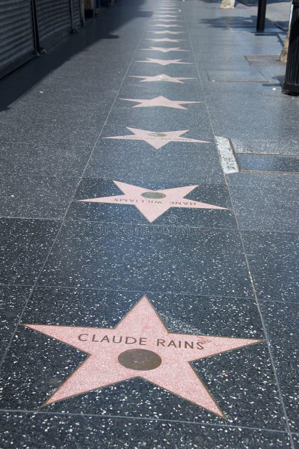 idź sławy Hollywood fotografia stock