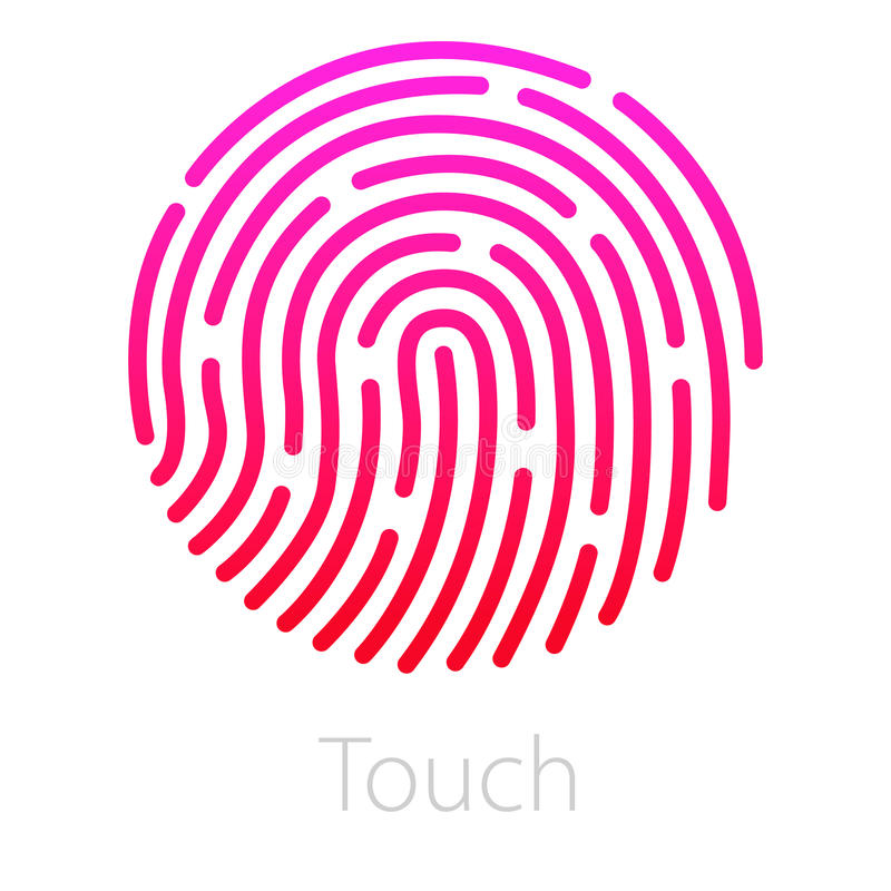 ID app icon. Fingerprint vector illustration. Phone vector illustration