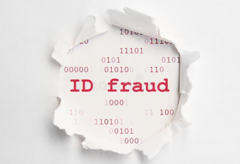 ID-bedrägeri royaltyfri bild