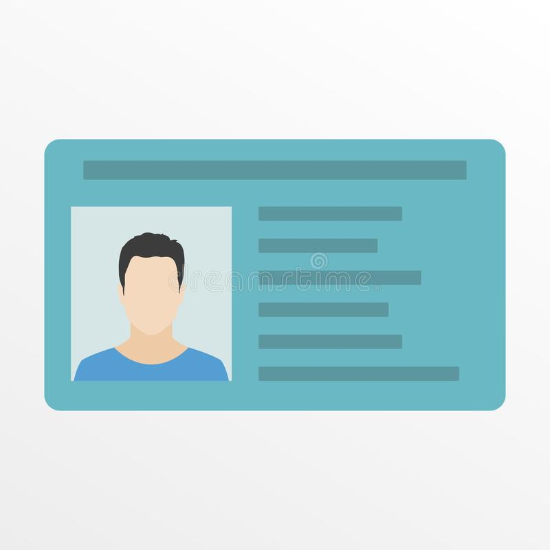 ID card or Car driver license. Vector illustration in flat style. vector illustration