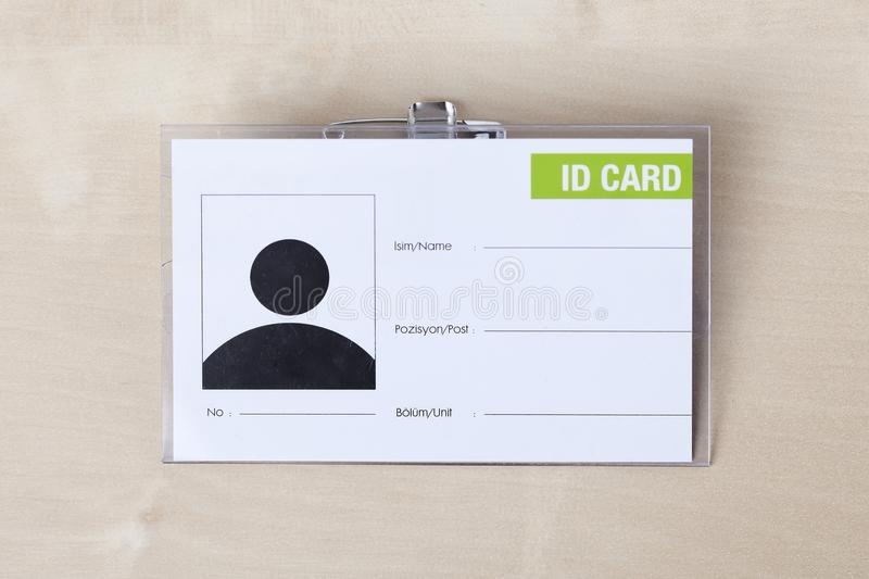 Id Card. Empty ID Card on the white background stock image