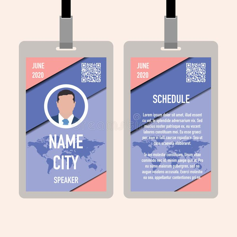 Red Name Badge Stock Illustration. Illustration Of Copy