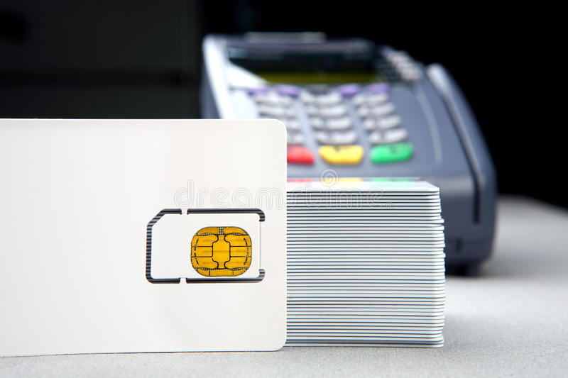 Download Id card with pos terminal stock photo. Image of chip - 11033518