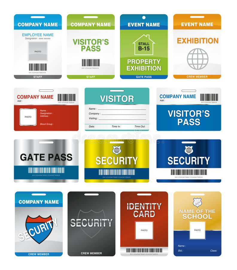 Download ID Cards stock vector. Image of pass, picture, design - 22518218
