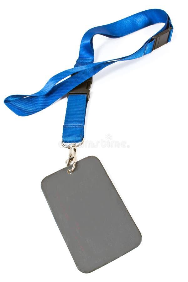 ID-etikett för blankt kort fotografering för bildbyråer