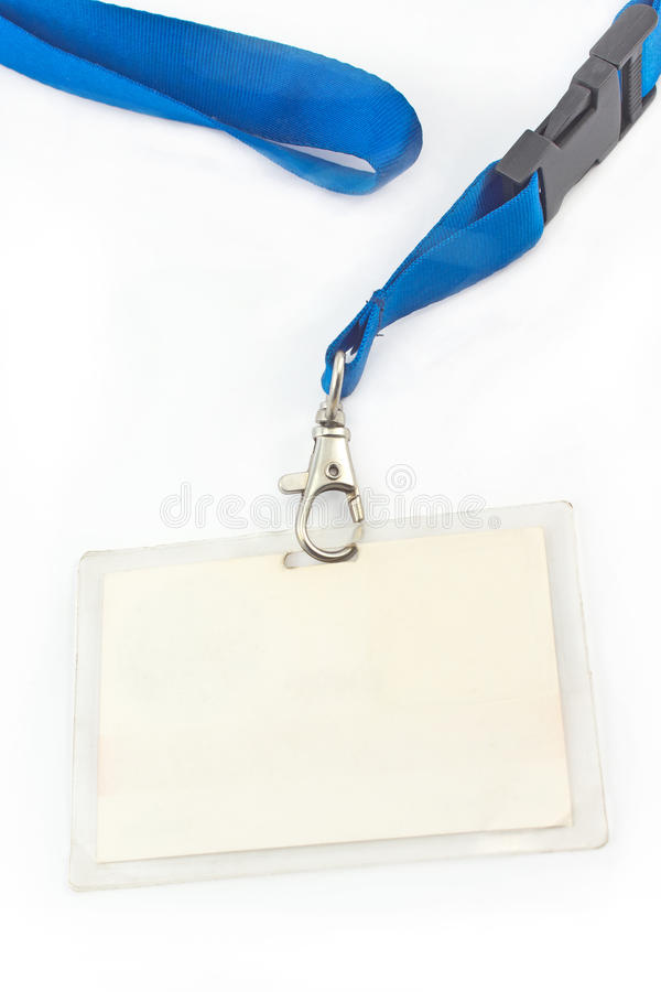 ID-etikett för blankt kort arkivfoton