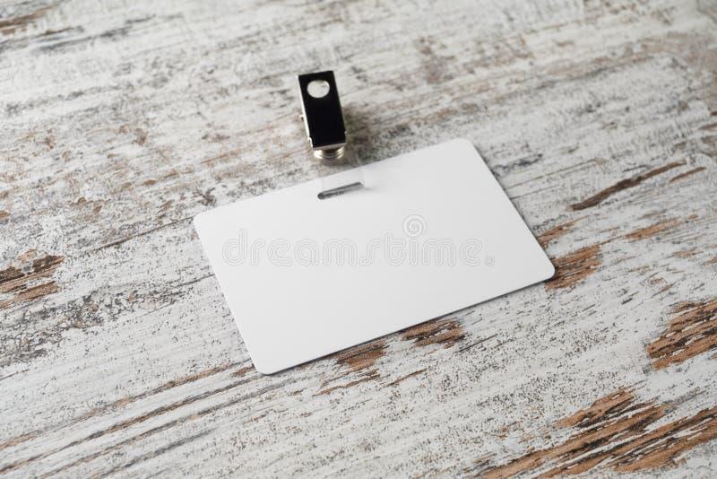 ID för blankt kort fotografering för bildbyråer