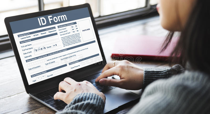 ID Form Character Identity Name Personality Concept stock image