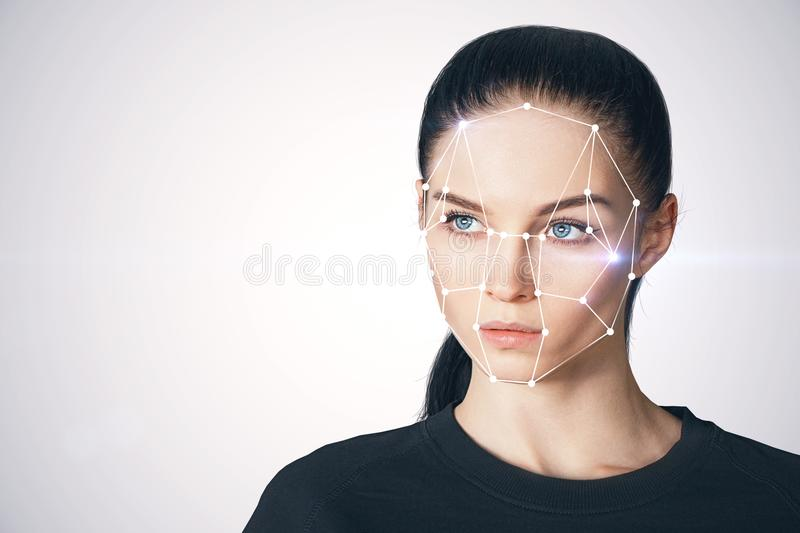 ID and future concept stock image