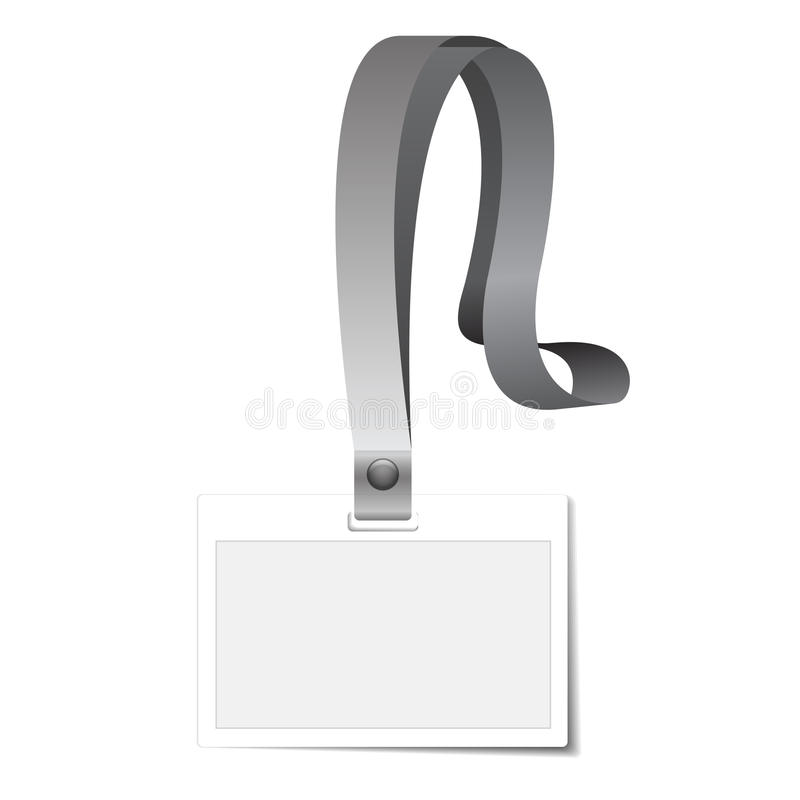 Id Holder or Card Name. On white royalty free illustration