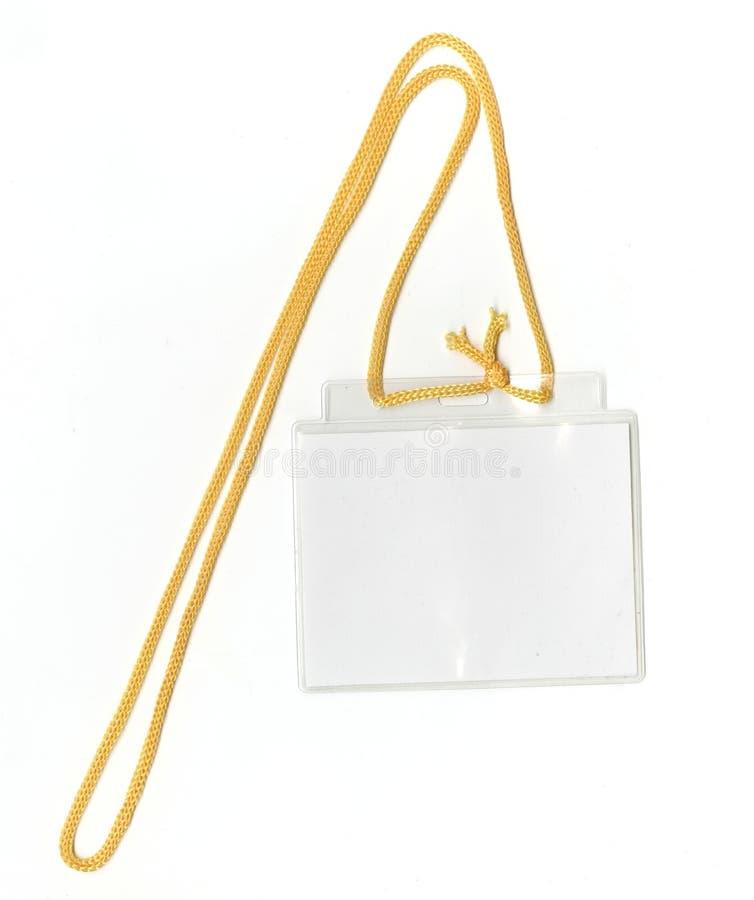 ID isolerade för säkerhetstext för passerandet din klar white för clippingkopia för emblem blankt avstånd för bana arkivfoton