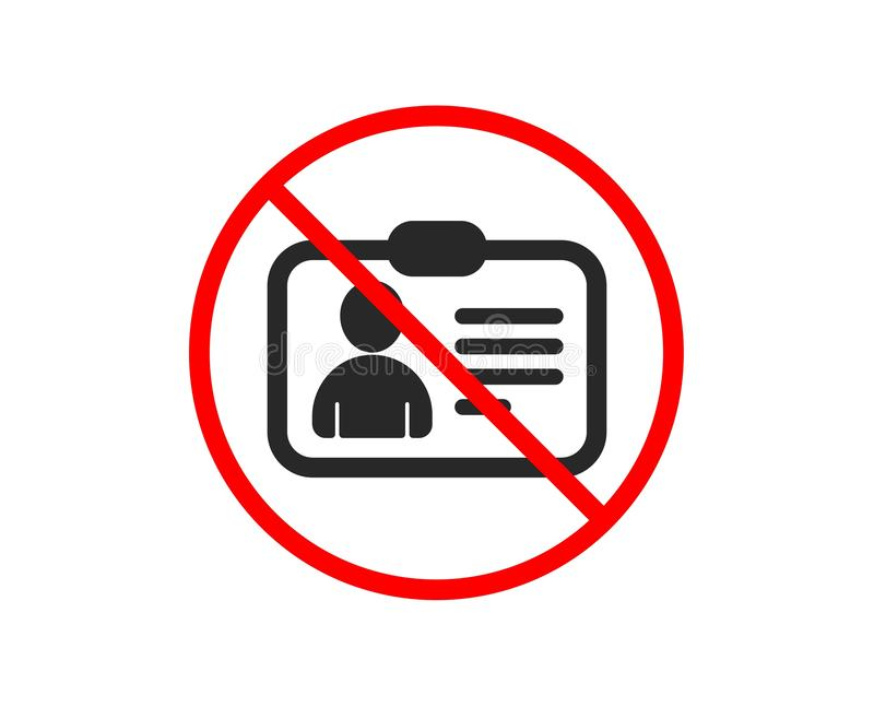 ID karty ikona Użytkownika profilu znak wektor royalty ilustracja