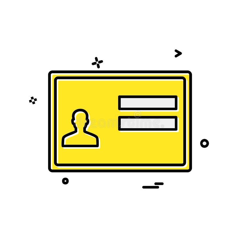 ID karty ikony projekta wektor ilustracji