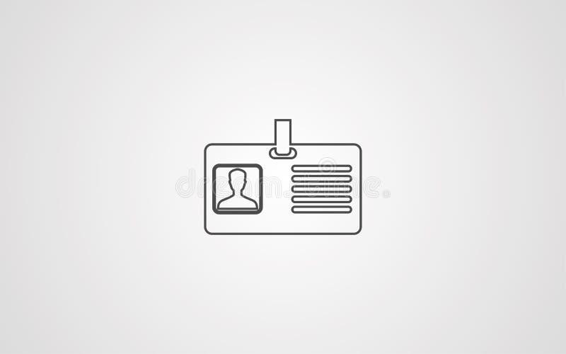 Id karty ikony znaka wektorowy symbol ilustracji