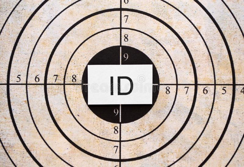 Download ID target stock illustration. Image of blue, background - 22700323