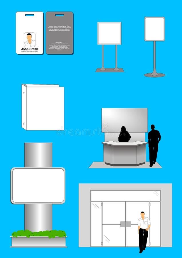 ID-template2 corporativo ilustração do vetor