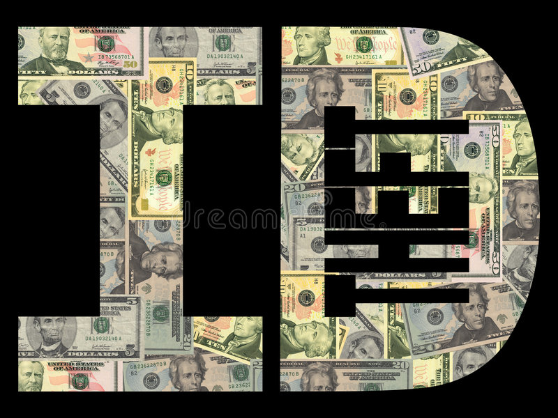 ID Theft With Dollars Stock Photo