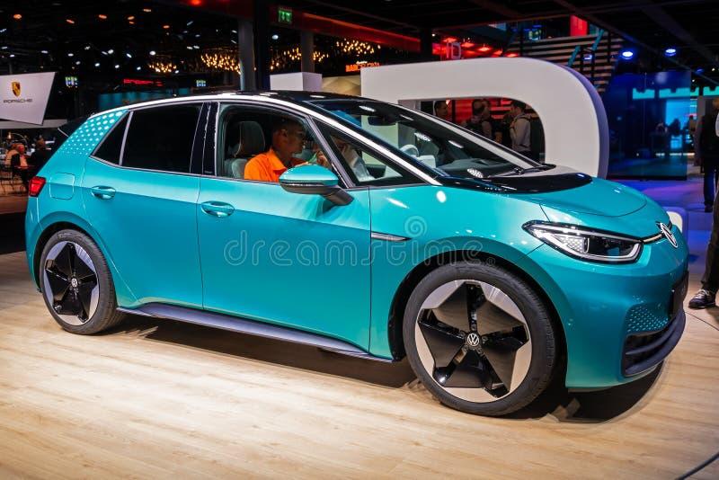 ID Volkswagen 3 voitures électriques image libre de droits