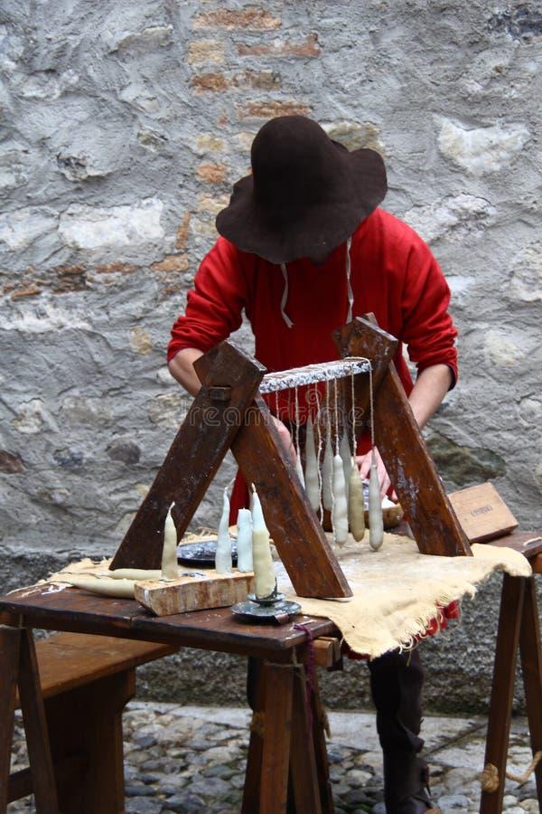 A Idade Média no mercado medieval de Erba - distrito de Villincino domingo 13 de maio de 2018 fotografia de stock royalty free
