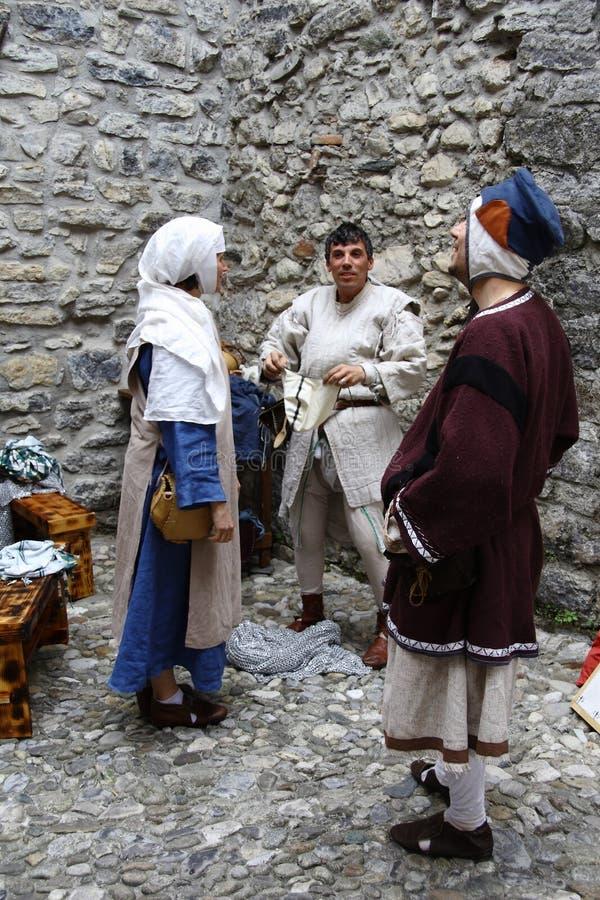 A Idade Média no mercado medieval de Erba - distrito de Villincino domingo 13 de maio de 2018 imagem de stock royalty free