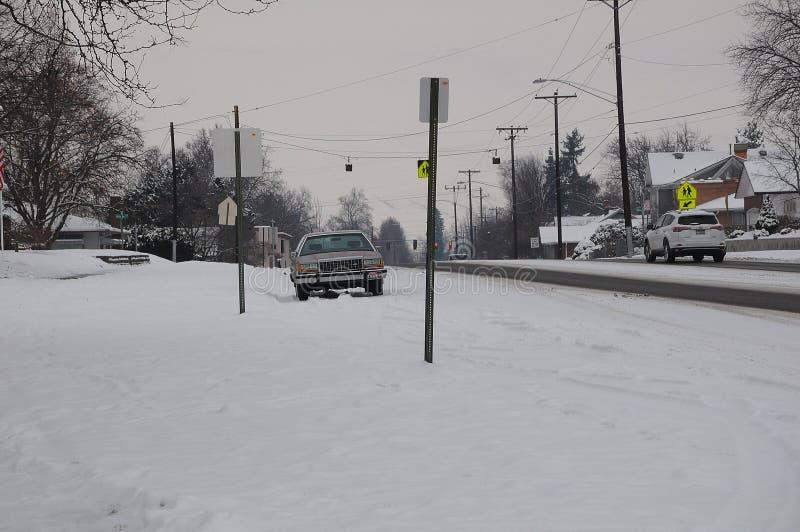 IDADO天气_SNOW秋天29FAHRENHEIT程度寒冷 免版税库存图片