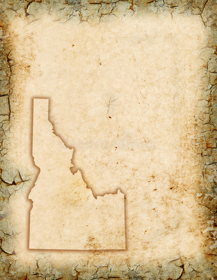 Idaho Background. Grunge background with an Idaho map outline vector illustration