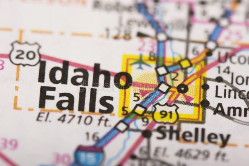 Idaho cai no mapa imagens de stock