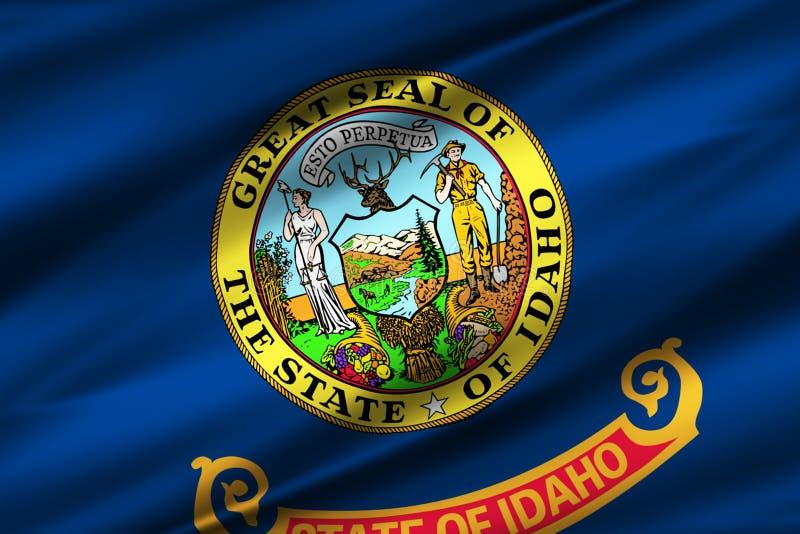 Idaho flag illustration stock illustration