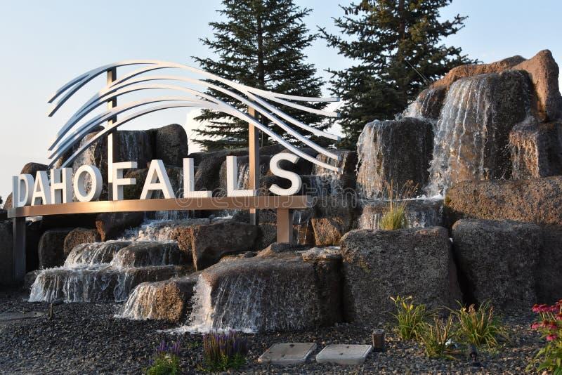Idaho faller stadstecknet arkivbild
