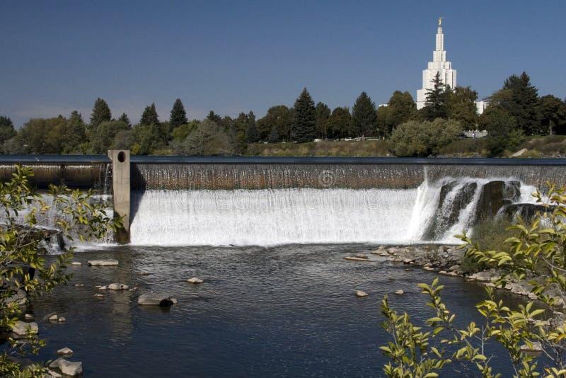 Idaho Falls. View of a waterfall at Idaho Falls, Idaho, USA royalty free stock images