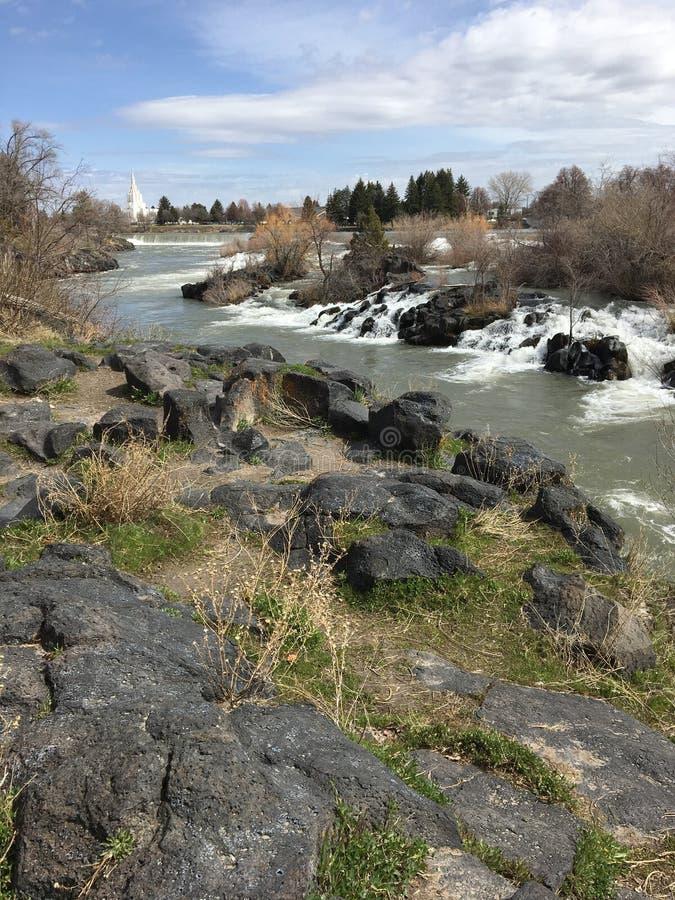 Idaho falls. Shot stock photography