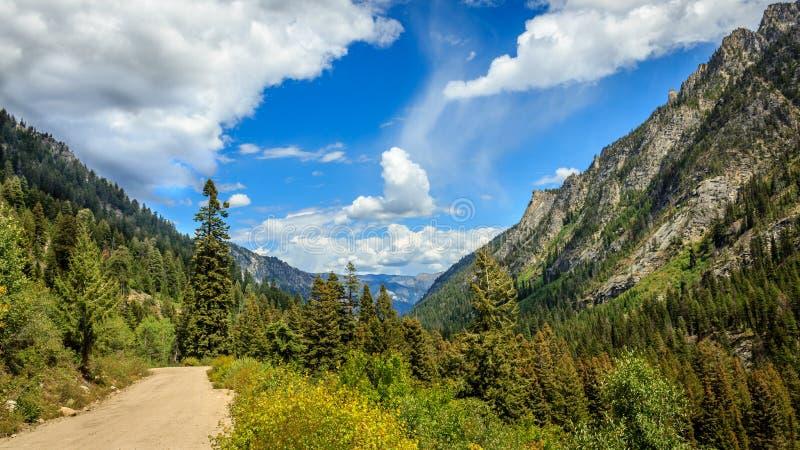 Idaho glesbygdsområdevägar royaltyfria foton