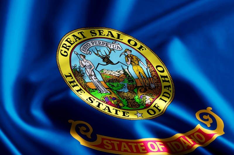 Idaho flag illustration vector illustration
