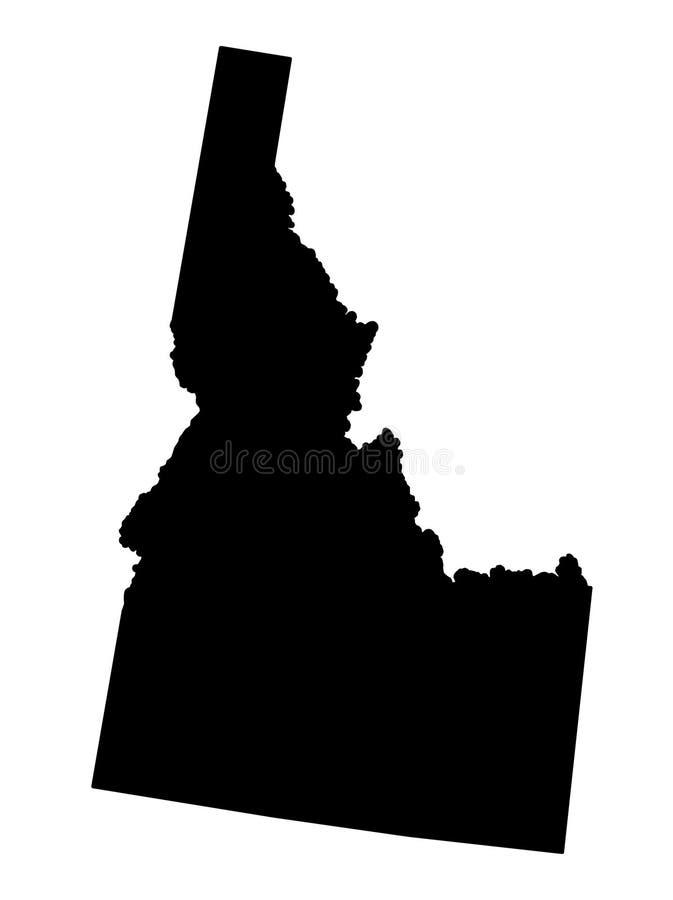 Idaho map silhouette vector illustartion. Isolated on white background royalty free illustration