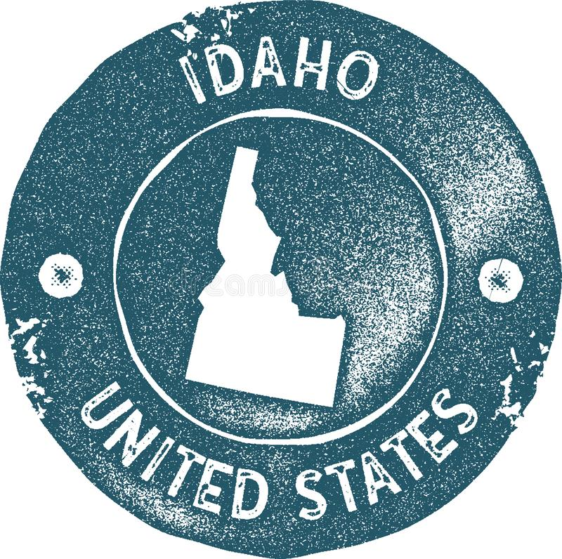 Idaho map vintage stamp. Retro style handmade label, badge or element for travel souvenirs. Blue rubber stamp with us state map silhouette. Vector illustration vector illustration