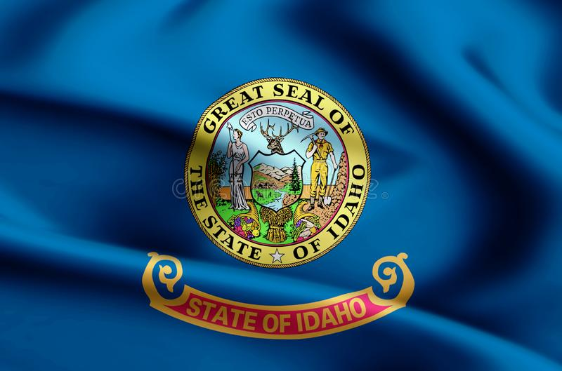 Idaho flag illustration royalty free illustration