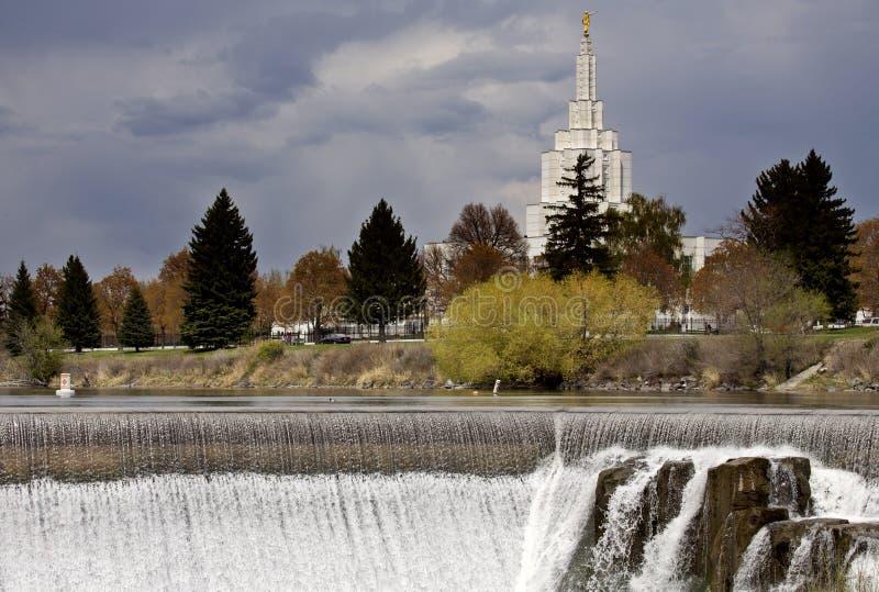 Idaho nedgångar arkivbild