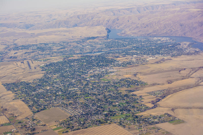 Idaho och Washington Aerial View royaltyfria foton