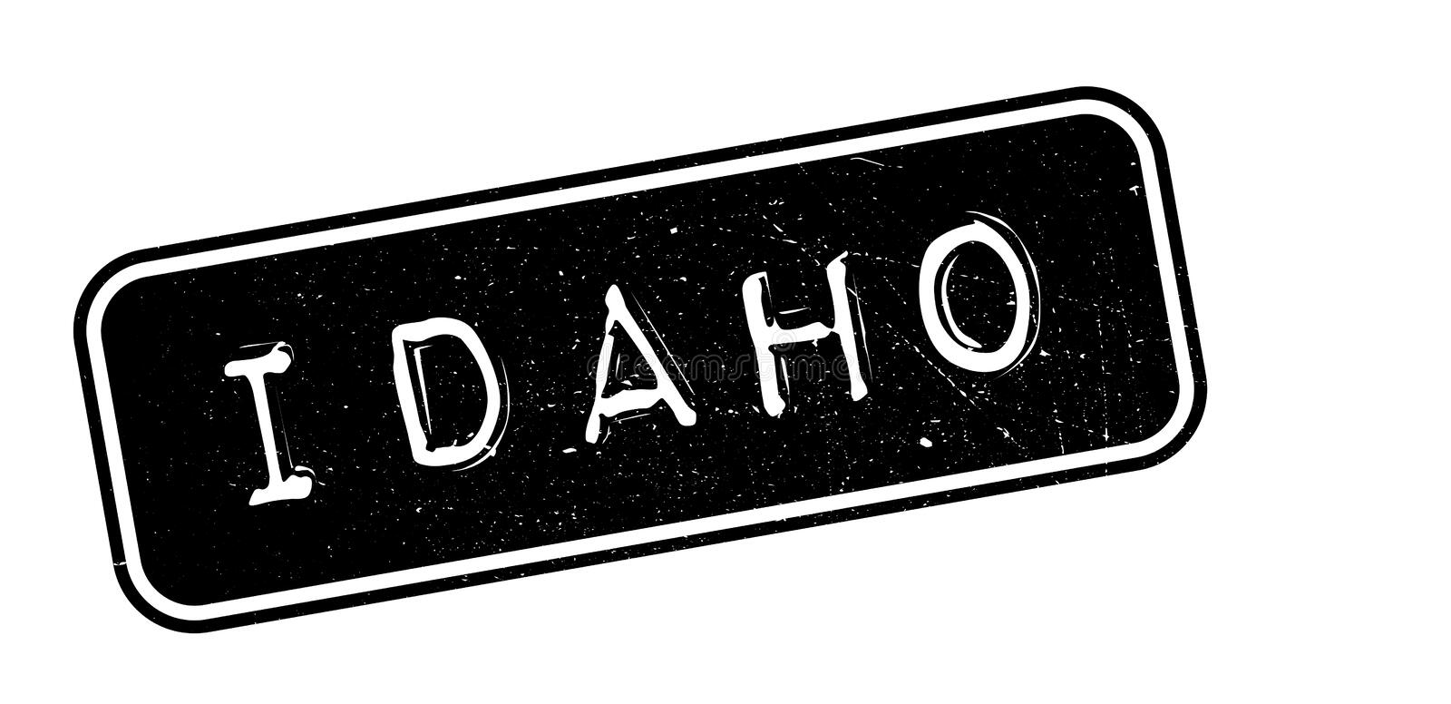 Idaho rubber stamp royalty free illustration