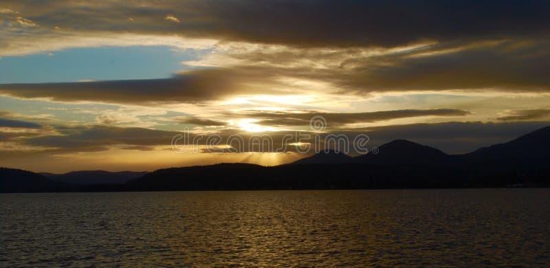 Idaho solnedgång royaltyfria foton