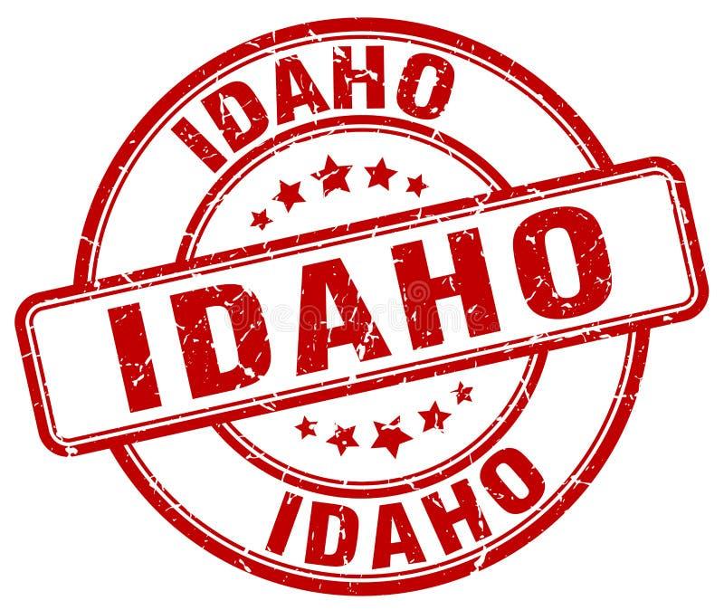 Idaho stamp. Idaho round grunge stamp isolated on white background royalty free illustration