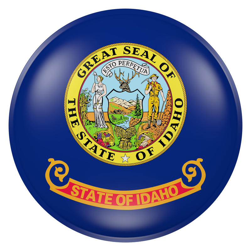 Idaho State flag button royalty free illustration