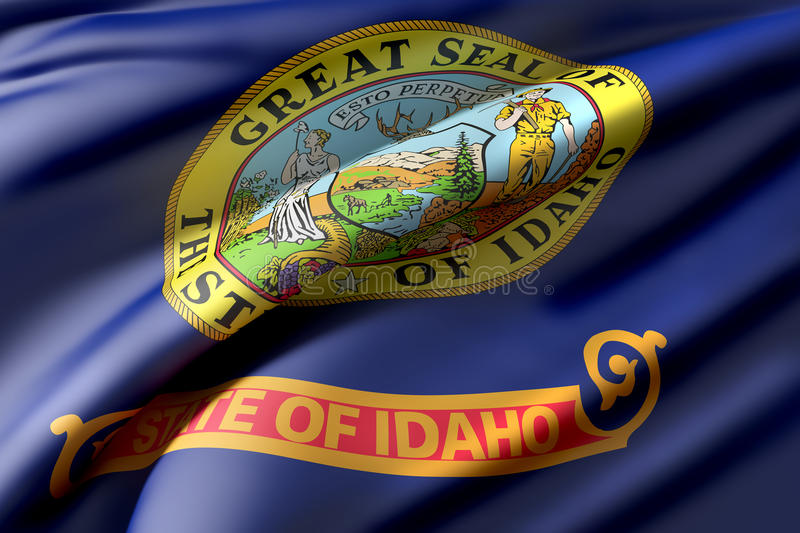 Idaho State flag vector illustration